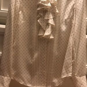 J.Crew size 0 cream silk blouse